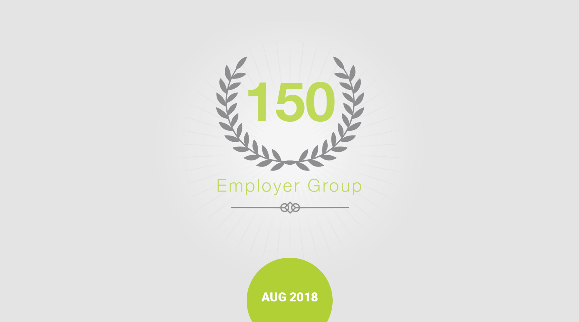 CHARGE launched 150th employer group badge and graphic