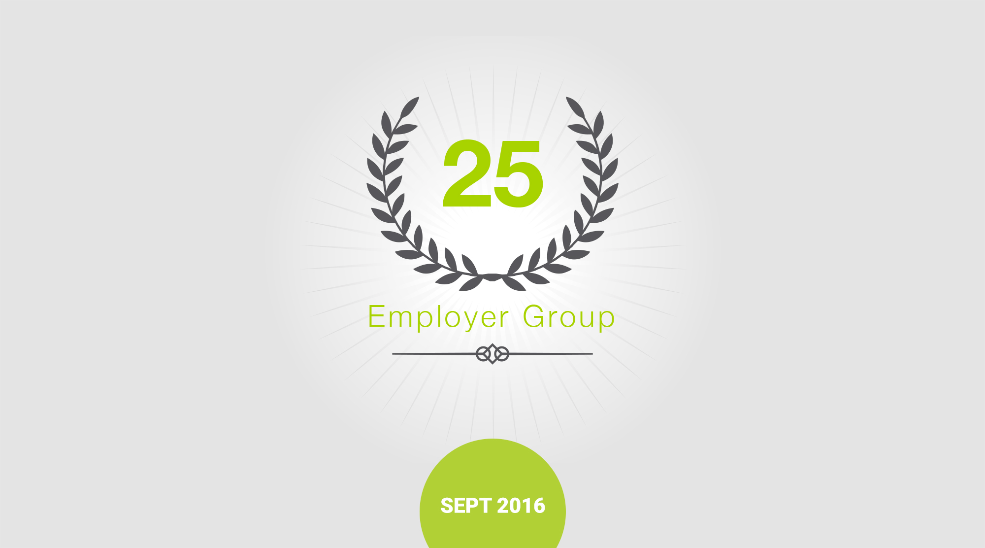 CHARGE launched 25th employer group badge and graphic